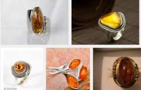 пръстен с кехлибар